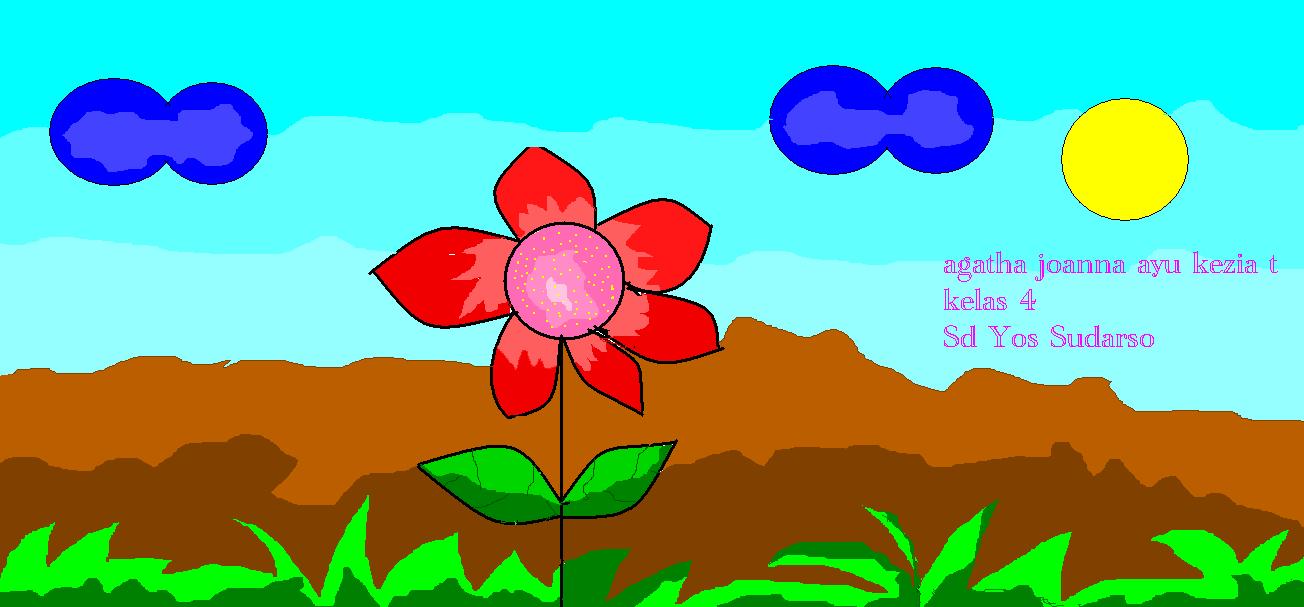 Menggambar Bunga Dan Angry Birds Karya Anak Ekskul Tik Sd Yos